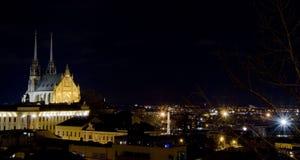 Città di Brno - Petrov Cattedrale del Paul e del Peter santo L'Europa centrale - repubblica Ceca Immagini Stock Libere da Diritti