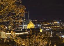 Città di Brno - Petrov Cattedrale del Paul e del Peter santo L'Europa centrale - repubblica Ceca Fotografia Stock Libera da Diritti