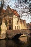Città di Bruges Fotografie Stock