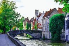 Città di Bruges nel Belgio fotografia stock libera da diritti
