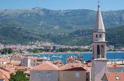 Città di Budva, Montenegro Fotografie Stock Libere da Diritti