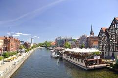 Città di Bydgoszcz in Polonia. Immagine Stock Libera da Diritti