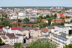 Città di Bydgoszcz in Polonia fotografie stock libere da diritti