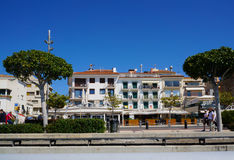 Città di Cambrils, Spagna Fotografie Stock