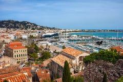 Città di Cannes in Francia Immagini Stock Libere da Diritti