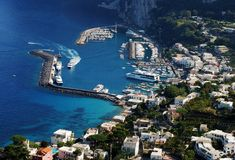 Città di Capri Immagine Stock Libera da Diritti