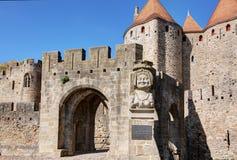 Città di Carcassonne - Aude France fotografie stock libere da diritti