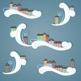 Città di carta nel cielo. Immagini Stock Libere da Diritti