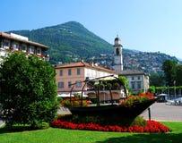 Città di Cernobbio nel distretto del lago Como, Italia fotografia stock