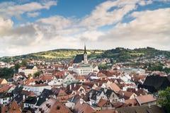 Città di Cesky Krumlov fotografia stock libera da diritti