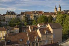 Città di Chaumont, Francia immagine stock