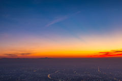 Città di Chiangmai sotto il cielo Immagini Stock
