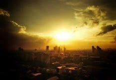 Città di cielo Fotografia Stock