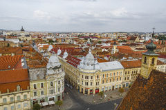 Città di Cluj-Napoca Fotografia Stock