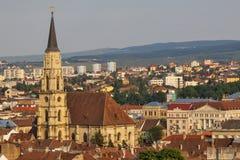 Città di Cluj in Romania Fotografia Stock Libera da Diritti