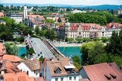 Città di Constanza nel lago Constance Fotografia Stock