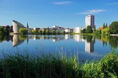 Città di Copenhaghen, Danimarca Fotografia Stock Libera da Diritti