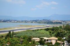 Città di Corfù - aeroporto fotografie stock