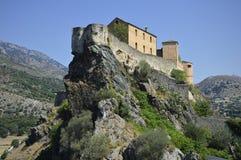 Città di Corte in Corsica Immagine Stock