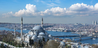 Città di Costantinopoli Fotografie Stock