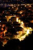Città di Costantinopoli alla notte Immagine Stock