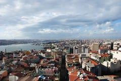 Città di Costantinopoli dalla torretta di Galata, un PA Fotografia Stock