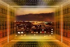 Città di Digitahi. Traforo binario Fotografia Stock Libera da Diritti