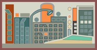 Città di Digital o città digitale illustrazione di stock