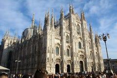 Città di Dom Milano fotografia stock