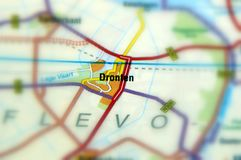 Città di Dronten - i Paesi Bassi Fotografia Stock Libera da Diritti