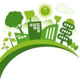 Città di Eco Immagini Stock Libere da Diritti