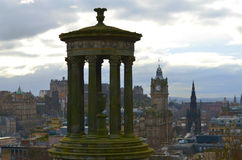 Città di Edimburgo dalla collina di Calton Immagini Stock