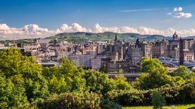 Città di Edimburgo dalla collina di Calton Immagini Stock Libere da Diritti