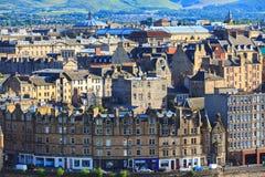 Città di Edingurgh sulla collina di Calton, Scozia Fotografie Stock
