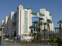 Città di Eilat sul Mar Rosso in Israele fotografia stock libera da diritti