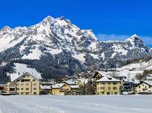 Città di Engelberg in Svizzera Fotografia Stock