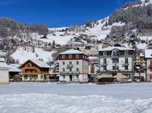 Città di Engelberg in Svizzera Immagini Stock Libere da Diritti