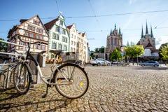 Città di Erfurt in Germania Fotografie Stock Libere da Diritti