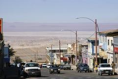 Città di estrazione mineraria di Chuquicamata Fotografie Stock