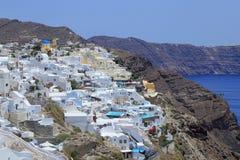 Città di Fira, isola di Santorini, Grecia Fotografia Stock Libera da Diritti