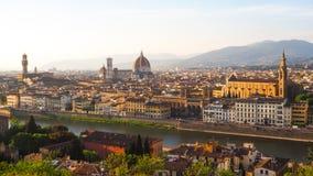 Città di Firenze nell'alta vista Fotografia Stock Libera da Diritti
