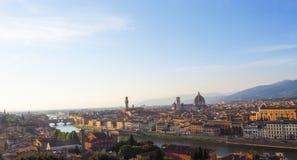 Città di Firenze nella vista panoramica Fotografie Stock
