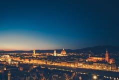 Città di Florence During Dusk immagine stock libera da diritti