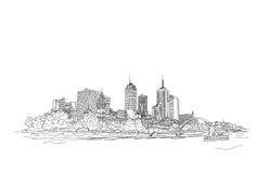 Città di futuro royalty illustrazione gratis