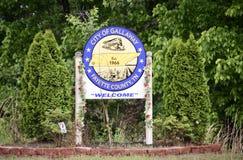 Città di Gallaway, la contea di Fayette, TN fotografia stock