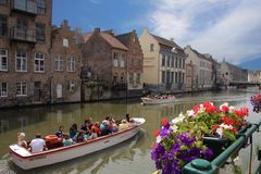 Città di Gand nel Belgio fotografie stock libere da diritti