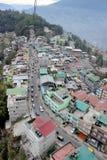 Città di Gangtok: Vista di occhio di uccelli Immagine Stock