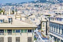 Città di Genova, panorama fotografia stock