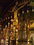 città di Gerusalemme, gli interni delle chiese cristiane fotografia stock libera da diritti