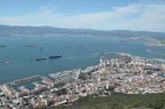Città di Gibilterra, il porto Fotografia Stock Libera da Diritti